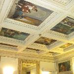 The frescoes in the breakfast room