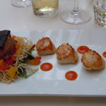 Scallops and Belly Pork