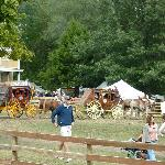 Stagecoach rides at Mahaffie