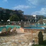 Lovely clean pool, taken on our last day (first time we actually saw a cloud)