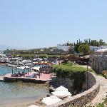 Strand und Bar am Tag