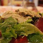 Gourmand Salade - slices of duck and foie gras