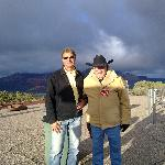 With a volunteer guard near Sedona air port