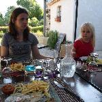 Dinner on terras