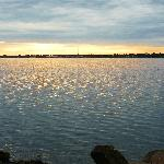 Sunrise over the St. Lawrence River from Park across the street