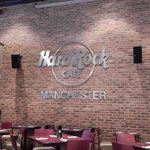Manchester Hard Rock Cafe - Wall Logo