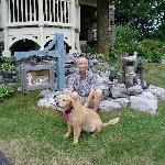 Creighton Manor & Very Friendly Dog