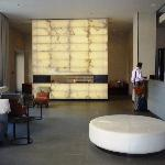 Fireplace & Recepton Desk