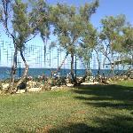 Vista mare dal nuovo solarium prato