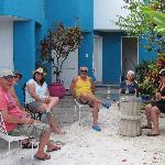The courtyard is a great place to relax, read or have conversations with other guests.