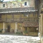 Courtyard in Bergerac depicting typical architecture