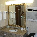 Sink unit at back of room