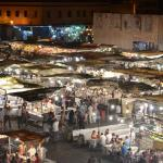 Jemaa Lfna at Night