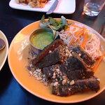 Vietnamese beef with noodles