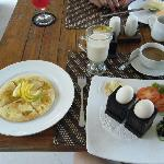 breakfast - can be served in room or in restaurant