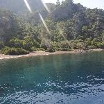 The swim stop to Dalyan