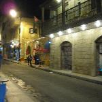 Traditional Madaba Souk at night near by Queen Ayola Hotel