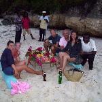 la cena in spiaggia