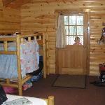 bunk beds + door