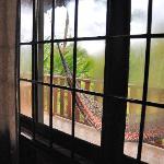 Hammock through cabin window