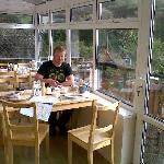 breakfast in the sunny conservatory