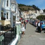 In front of hotel with Great Orme behind