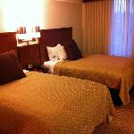Double bed equipped room.