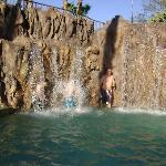 walking behind the waterfalls
