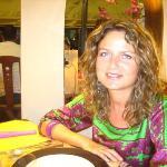 Marta y yo en un maravilloso restaurante