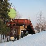 敷地内にある古いジャンプ台