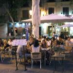 outdoor dining at the Square