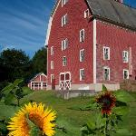 Farmhouse Inn's historic big red barn.