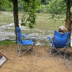 Tent sites right on the river