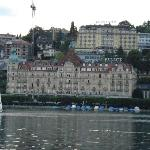 Hotel as viewed from a cruise on Lake Lucerne