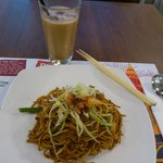 Mee Goreng and iced teh tarik