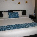 King size bed in the room