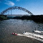 Waterworld - jetskiing with a view of the arch bridge over the Umtamvuna River