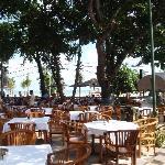 Restaurant/Breakfast area overlooking Legain Beach