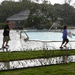 Sorry - best pic of pool was kids playing in the rain