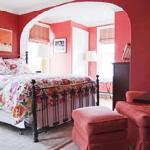 Rose Room with queen bed & private bath