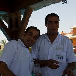 The GREAT barmen at the pool bar