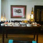 Fabulous and yummy breakfast spread in a bright sunny dining room with stellar service !!!!