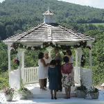 Wedding gazebo overlooking Berkshire Hills