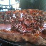 tomato pie with meatballs