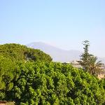 view of Etna from balcony