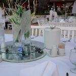 table soirée blanche impeccable