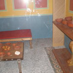 reconstruction of a roman dineing room