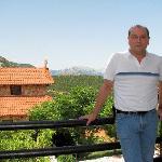 Me, Panos, at the veranda