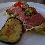 Pork tenderloin with grilled zucchini