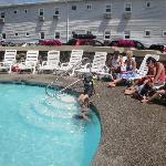 la piscine chaufé